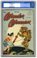 Golden Age (1938-1955):Superhero, Wonder Woman #18 (DC, 1946) CGC VF 8.0 Off-white pages. A book-length struggle with Dr. Psycho is Wonder Woman's challenge i...