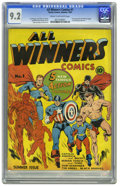Golden Age (1938-1955):Superhero, All Winners Comics #1 (Timely, 1941) CGC NM- 9.2 Cream to off-white pages. Everything that Timely collectors love comes toge...