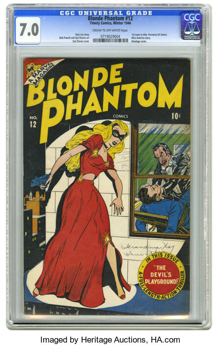 Daring Mystery Comics #1 Denver pedigree Timely, 1940) CGC NM 9.4 Off-white pages. This milestone Timely hit the newsstands ...