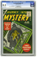 Golden Age (1938-1955):Horror, Journey Into Mystery #29 (Marvel, 1955) CGC VF+ 8.5 Cream tooff-white pages. Artist Joe Maneely died a tragic death at a yo...