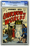Golden Age (1938-1955):Horror, Journey Into Unknown Worlds #35 White Mountain pedigree (Atlas,1955) CGC VF+ 8.5 Off-white to white pages. This is the only...