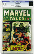 Golden Age (1938-1955):Horror, Marvel Tales #96 (Atlas, 1950) CGC VF- 7.5 Cream to off-whitepages. Syd Shores cover. Mike Sekowsky art. Overstreet 2005 VF...