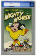 Golden Age (1938-1955):Cartoon Character, Mighty Mouse #1 Vancouver pedigree (Timely, 1946) CGC NM+ 9.6 Off-white to white pages. We feel comfortable asserting that t...