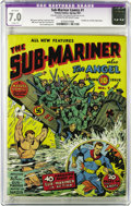 Golden Age (1938-1955):Superhero, Sub-Mariner Comics #1 (Timely, 1941) CGC Apparent FN/VF 7.0 Slight (P) Cream to off-white pages. As this is one of the most ...