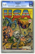 Golden Age (1938-1955):Superhero, USA Comics #1 (Timely, 1941) CGC GD+ 2.5 White pages. This book's issue is on Overstreet's list of the 100 most valuable Gol...