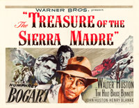 """The Treasure of the Sierra Madre (Warner Brothers, 1948). Half Sheet (22"""" X 28"""") Style B"""