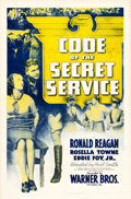 "Movie Posters:Drama, Code of the Secret Service (Warner Brothers, 1939). One Sheet (27""X 41"").. ..."