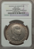 Mexico, Mexico: Augustin Iturbide 8 Reales 1823 Mo-JM VF Details (ExcessiveSurface Hairlines) NGC,...
