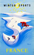 "Movie Posters:Miscellaneous, France Travel Poster (French Tourism Board, 1948). Poster (24.25"" X39"") ""Winter Sports."". ..."