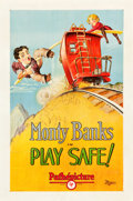 "Movie Posters:Comedy, Play Safe! (Pathé, 1927). One Sheet (27"" X 41"") Style A.. ..."