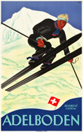 "Movie Posters:Miscellaneous, Adelboden, Switzerland Travel Poster (Wolfsberg, Zurich, 1928).Poster (25.25"" X 40"").. ..."