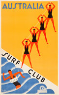 "Movie Posters:Miscellaneous, Australian Travel Poster (Australian National Travel Association, .c.1936). Poster (25"" X 40"") ""Australia Surf Club."". ..."