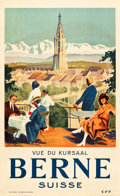 "Movie Posters:Miscellaneous, Bern, Switzerland Travel Poster (C.F.F., 1930s). Poster (25"" X40.75"").. ..."