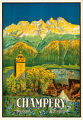 "Movie Posters:Miscellaneous, Champéry, Switzerland Travel Poster (Affiches Typolith, S.A. Vevey,1920s). Poster (27.5"" X 39.5).. ..."