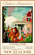 "Movie Posters:Miscellaneous, New Zealand Travel Poster (New Zealand Railways, 1932). Poster(25.25"" X 39.75"") ""Château Tongariro."". ..."