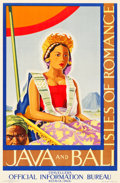 "Movie Posters:Miscellaneous, Java and Bali Travel Poster (Topographical Service, Batavia, Java,1930s). Poster (23.5"" X 36"").. ..."