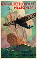 "Movie Posters:Miscellaneous, KLM Flying Dutchman Travel Poster (1927-1928). Poster (25.5"" X40.25"").. ..."