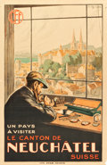 """Movie Posters:Miscellaneous, Neuchâtel, Switzerland Travel Poster (CFF, 1920s). Poster (25.5"""" X39.5"""").. ..."""