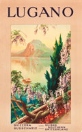 """Movie Posters:Miscellaneous, Lugano, Switzerland Travel Poster (1920s). Full-Bleed Poster (25"""" X39.5"""").. ..."""