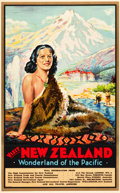 """Movie Posters:Miscellaneous, New Zealand Travel Poster (C.S.W. Ltd, Dunedin, c.1935). Poster(24.75"""" X 40"""") """"Wonderland of the Pacific."""". ..."""