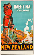 "Movie Posters:Miscellaneous, New Zealand Travel Poster (W.A.G.Skinner, Circa 1920). Poster (25""X 39.75"").. ..."