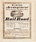 Advertising:Paper Items, Early Railroads: A Highly Important Large, 1832-Dated Broadside....