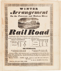 Early Railroads: A Highly Important Large, 1832-Dated Broadside