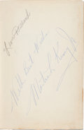 Autographs:Celebrities, Martin Luther King Jr. Stride Toward Freedom....