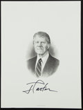 Miscellaneous Collectibles:General, Jimmy Carter Signed Engraving....