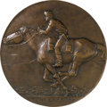 Western Expansion:Cowboy, Pony Express: 50th Anniversary Bronze Plaque by Proctor....