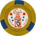 Miscellaneous:Gaming Chips, Las Vegas Casinos: $5 Sands Hourglass Chip....