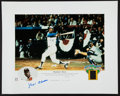 Autographs:Others, 2000's Hank Aaron Signed Lithograph....
