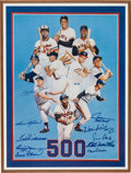 Autographs:Others, Mid 1980's 500 Home Run Club Signed Poster....
