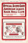 Baseball Collectibles:Programs, 1909 New York Highlanders/Yankees vs. St. Louis Browns Scorecard....