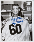 Baseball Collectibles:Photos, 1980's Roger Maris Signed 60th Home Run Photograph. ...