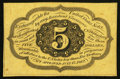 Fractional Currency:First Issue, Fr. 1231SP 5¢ First Issue Narrow Margin Back Choice New.. ...