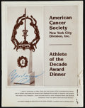 Boxing Collectibles:Autographs, 1978 Muhammad Ali Signed American Cancer Society Program....