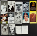 Baseball Collectibles:Others, Baseball Greats Signed Postcards, Etc. Lot of 14....