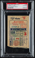 Baseball Collectibles:Tickets, 1938 World Series Game 3 Ticket Stub....