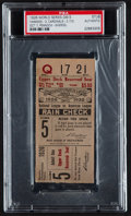 Baseball Collectibles:Tickets, 1926 World Series Game 5 Ticket Stub....