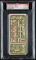 Baseball Collectibles:Tickets, 1934 St. Louis Cardinals vs. Detroit Tigers World Series Game 1Ticket Stub....