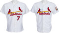 Baseball Collectibles:Uniforms, 1998-01 JD Drew Game Worn St. Louis Cardinals Game Worn Jerseys Lot of 2 With Team Letter. ...