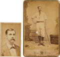 Baseball Collectibles:Photos, Late 1870's Fred Andrus Original Photographs Lot of 2....