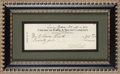 Autographs:Checks, 1941 Babe Ruth Signed Check Endorsed by Claire Ruth....