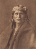 Photographs:Photogravure, EDWARD S. CURTIS (American, 1868-1952). A Walpi Man, 1921.Photogravure. 15-3/8 x 11-3/8 inches (39.1 x 28.9 cm). Title,...
