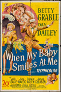 "Movie Posters:Musical, When My Baby Smiles at Me (20th Century Fox, 1948). One Sheet (27"" X 41""). Musical.. ..."