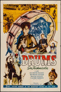 "Movie Posters:Adventure, Drums (Film Classics, R-1948). One Sheet (27"" X 41""). Adventure....."