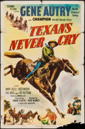 """Texans Never Cry (Columbia, 1951). One Sheet (27"""" X 41""""). Western"""