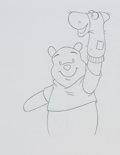 Animation Art:Production Drawing, Winnie the Pooh, Piglet, Eeyore, and Tigger TV CommercialProduction Drawing Animation Art Group (Walt Disney, c. 1990s)....(Total: 4 Original Art)