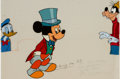 Animation Art:Production Cel, Mickey Mouse, Donald Duck, and Goofy TV Commercial Production CelAnimation Art Group (Walt Disney, c. 1980s-90s).... (Total: 5Original Art)
